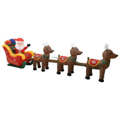 Christmas Inflatable Santa and Reindeer Decoration LED 490 cm