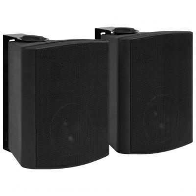Wall-mounted Stereo Speakers 2 pcs Black Interior Exterior