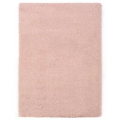 Rug 140x200 cm Faux Rabbit Fur Old Pink