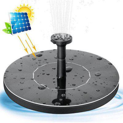 Solar Fountain Outdoor Pool Waterscape Flowing Water Floating Miniature