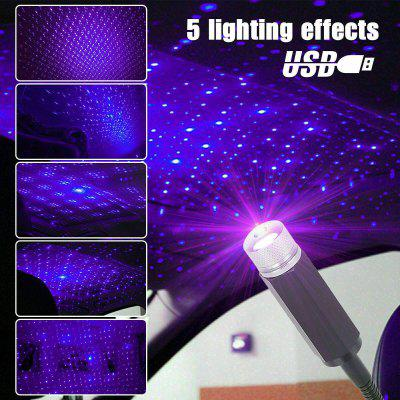 USB Car Interior Atmosphere Starry Sky Lamp Ambient Star Light LED Projector USA