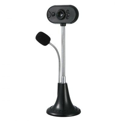 USB HD PC Webcam Camera Digital Web Camera w/ Mic For Laptop Computer Adjustable