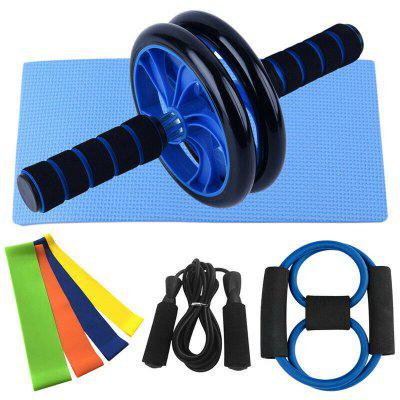 AB Roller Wheel Muscle Trainer + Knee Support / Fitness Straps