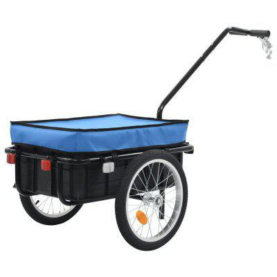 Bicycle Trailer / Hand Cart 155x61x83 cm Steel Blue, Gearbest  - buy with discount