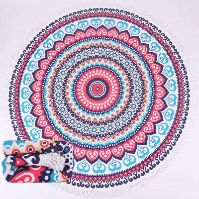 Round Digital Printing Beach Towel Shawl Lunch Mat