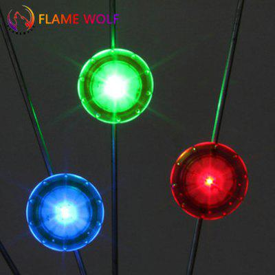 Mountain Bike Light Bicycle LED Tricolor 3 Pcs Hot Wheel Silicone Spoke Wire
