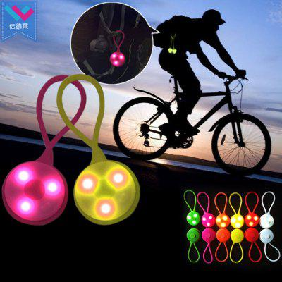 Silicone LED Bike Light Keychain Mini Backpack