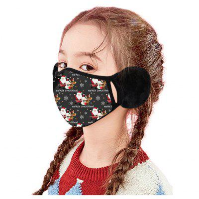 OGIRL Children Christmas  Winter Masks Warm Earmuffs Print Dust Warmth Thickened