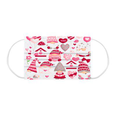 OGIRL Adult Disposable Mask Three-layer Meltblown Christmas Printing Explosion Non-medical