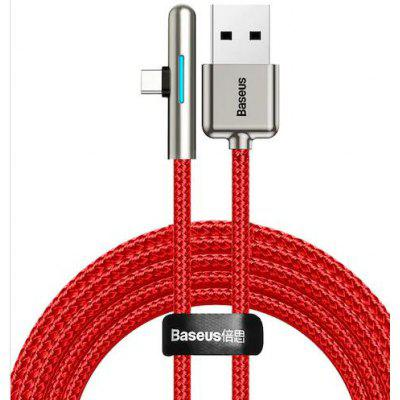 Baseus Elbow LED 40W Fast Charging USB Type-C Data Cable 2m-red for Tablet HUAWEI P30 and Mate 30 Pro / Samsung S10