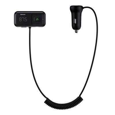 Baseus T Cat Head S-16 Car Bluetooth MP3 Charger English Version Black