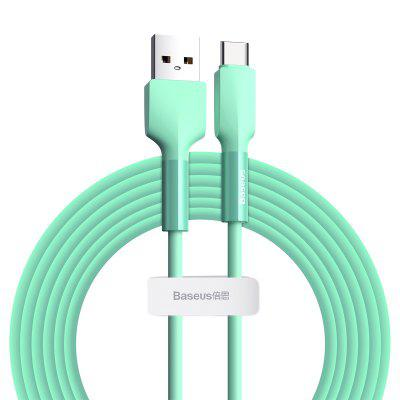 Baseus Silicone Data Cable USB For IP/ Type-C 1m /2m Green