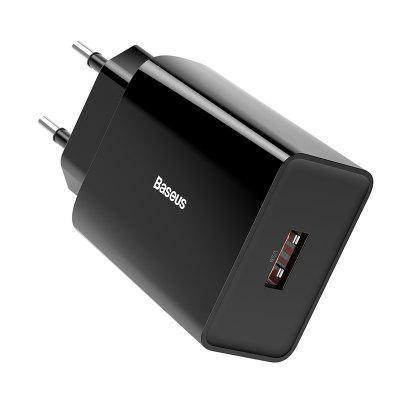 Baseus Fast Mini Dual USB Travel Charger Fast Charge 18W European Specification Jack