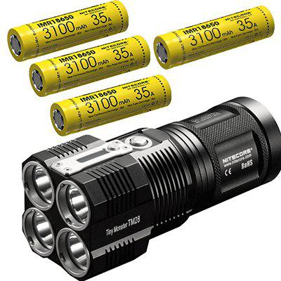 Nitecore TM28 Set 6000LM 4xCREE XHP35 HI LED Rechargeable Hight Light Flashlight