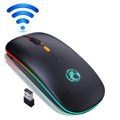 Wireless Mouse Bluetooth RGB Rechargeable Computer LED Backlit Ergonomic Gaming For Laptop PC