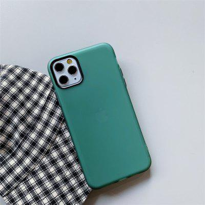 Solid Colored  TPU Case with Screen Protect for Apple iPhone 11 Pro Max X XR XS 8 Plus 7 6 SE Multicolor Candy Back Cover