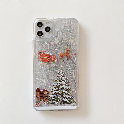 Christmas Tree Flowing Liquid Pattern Case For iPhone 12 11 Pro Max 8 Plus 7 6 Back Cover