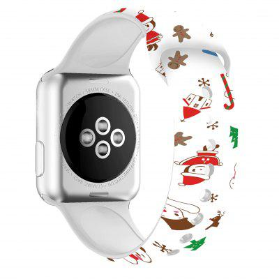 Christmas Silicone Band For Apple Watch 44mm 40mm 38mm 42mm Bracelet For IWatch Series SE 6 5 4 3 2 1 Cartoon Printed Rubber Strap charge for apple watch stand apple watch 5 4 3 2 1 iwatch 42mm 38mm 44mm 40mm smart watch accessories station holder black white