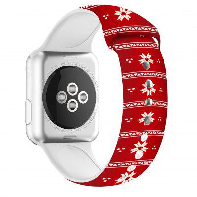 Christmas Silicone Band For Apple Watch 44mm 40mm 38mm 42mm Bracelet IWatch Series SE 6 5 4 3 2 1 Cartoon Printed Rubber Strap