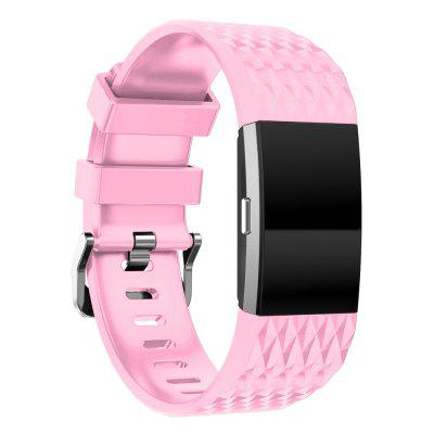 Youth 3D Texture Silicone Replacement Watchband For Fitbit Charge 2 Band Smartwatch Loop Bracelet Wrist Strap