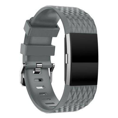 Youth 3D Texture Silicone Replacement Watchband For Fitbit Charge 2 Band Smartwatch Band Loop Bracelet Wrist Strap