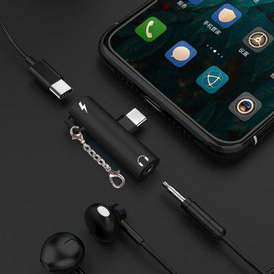 Type C to 3.5mm Headphone Audio Jack Adapter for Samsung Galaxy s 10 plus S10+ Xiaomi mi 9 USB Tipo Converter Charging