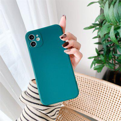 Solid Colored Silicone Case for iPhone 12 11 Pro Max X Xs XR 7 7plus 8 8plus 6 6s 6plus SE2020 Shockproof Protective Cover