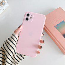 Solid Colored Silicone Case for iPhone 12 11 Pro Max X Xs Xs Max XR 7 7plus 8 8plus 6 6s 6plus iPhone SE2020 Shockproof Protective Case Cover