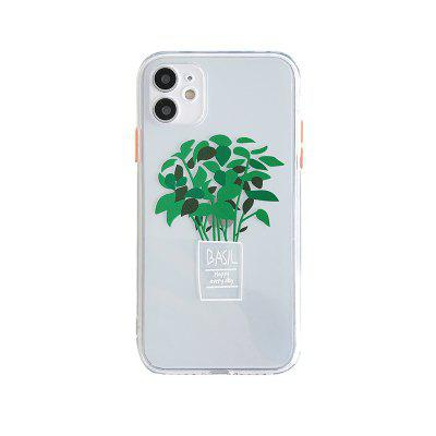 Tree Transparent TPU Case For iPhone 12 Mini Pro Max 11 X XS XR 7 7plus 8 8plus Shockproof Back Cover