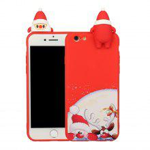 Christmas Cartoon Case for iPhone 12 11 Pro Max X XS XS Max XR 7 7plus 8 8plus 6 6S Plus iPhone SE2020 Solid Color Protective Cover Shell
