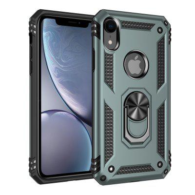Armor Shockproof Case for iPhone 12 11 Pro Max X XS XS Max XR 7 7plus 8 8plus 6 6S Plus iPhone SE2020 Solid Color Ring Holder Protective Cover Shell