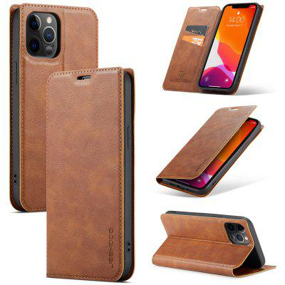 Cowhide Leather Case for iPhone 12 11 Pro Max X XS XR 7 7plus 8 8plus 6 6S Plus SE2020 Card Holder / Stand Cases Solid Colored Protective Cover