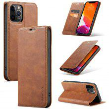 Cowhide Leather Case for iPhone 12 11 Pro Max X XS XS Max XR 7 7plus 8 8plus 6 6S Plus SE2020 Card Holder / Stand Cases Solid Colored Protective Cover