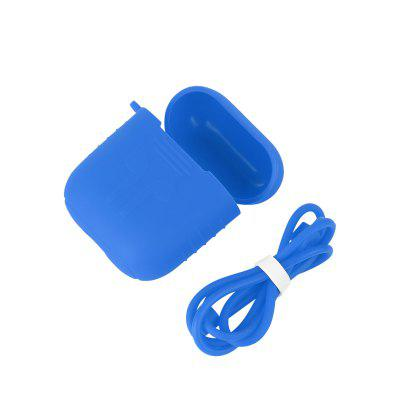Silicone Skin for Airpods 1/2 Case with Anti-lost Lanyard Shockproof Bluetooth Wireless Earphone Protective Cover Accessories
