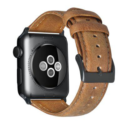 brown leather band loop strap for apple watch 6 se 5 4 3 2 38mm 40mm men leather watch band for iwatch 5 4 44mm 42mm bracelet Watch Band Oil Wax Genuine Leather Bracelet For Apple Watch Band 42mm 38mm 44mm 40mm Series SE 6 5 4 3 2 Watch Strap For iWatch