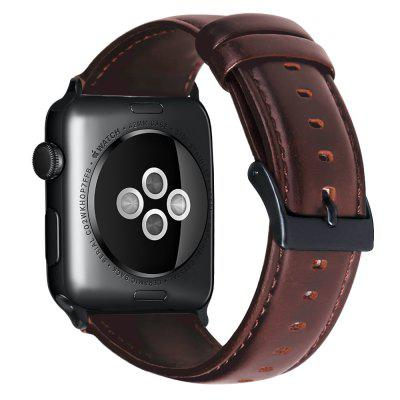 Watch Band Oil Wax Genuine Leather Bracelet For Apple Watch Band 42mm 38mm 44mm 40mm Series SE 6 5 4 3 2 Watch Strap For iWatch emoticon face faux leather strap watch