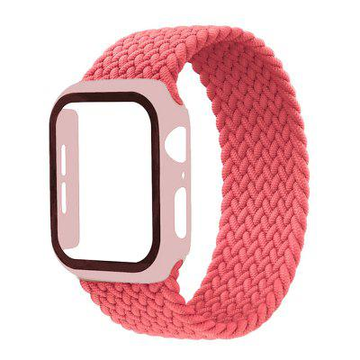 Smart Watch Braided Solo Loop Band +PC Case For Apple Strap 44mm 40mm 42mm 38mm Elastic Nylon Bracelet iWatch Series 6 5 4 3 SE