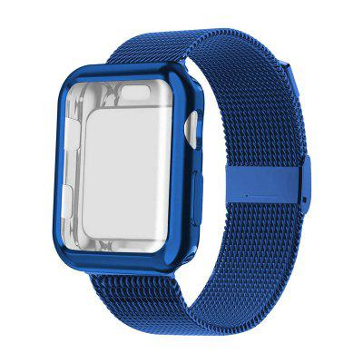 Strap with Case for Apple Watch Band 38 40 42 44mm Sport Wristband Bracelet iwatch Series 6 5 4 3 SE