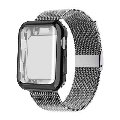for apple watch series 4 band real carbon fiber watch straps for apple watch series 1 2 3 iwatch 38 4mm men s wrist bracelet Strap with Case for Apple Watch Band 38 40 42 44mm Sport Wristband Bracelet for iwatch Series 6 5 4 3 SE