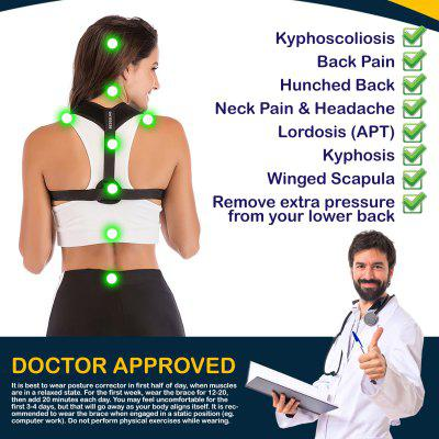 Figure 8 Posture Corrector Back and Shoulder Support Brace for Women Men  Helps to Improve Prevent Slouching Relieve Pain