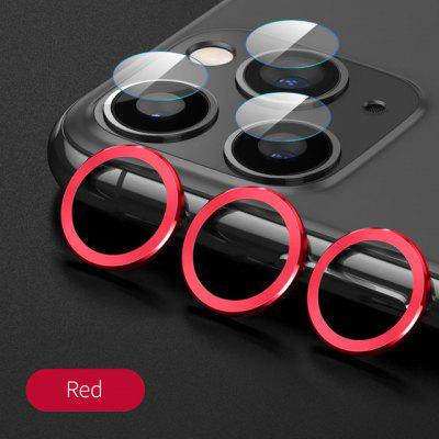 Back Camera Lens Case for iPhone 11 12 Pro Max Tempered Glass Screen Protector Film iphone Metal pritection Ring