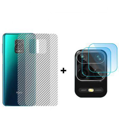 2 in 1 Camera Lens Tempered Glass For Xiaomi Redmi Note 9 9s 8 K20 Pro + Carbon Fiber Screen Protector 8A MI 9T