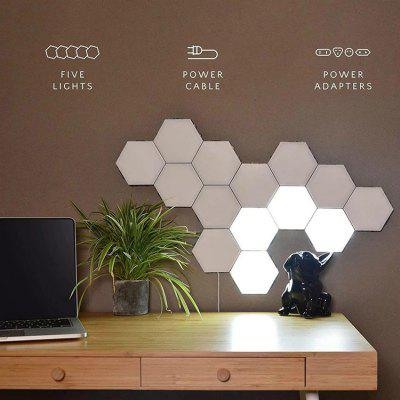 LED DIY Hexagonal Wall Lamp Home Decoration Honeycomb Bedroom Touch Induction Magnetic Quantum Night Light