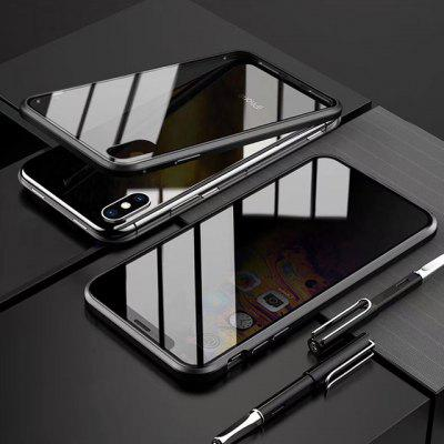 High-quality Anti-peep All-inclusive Magnetic Phone Case Double-sided Tempered Glass Screen Protector for IPhone12 11 Pro Max Mini X XR XS
