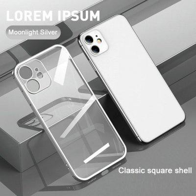 Straight Edge Electroplating Mobile Phone Case All-inclusive Transparent Silicone Protective for IPhone12 11Pro Max Mini XS XR