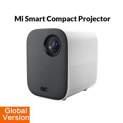 Xiaomi Mi Compact Projector 1080P Global Version Portable Smart Home Cinema DLP 500 ANSI lumen Android TV 9.0 support 4K Video