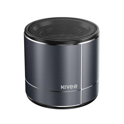 KIVEE MW02 Mini metal Portable Speaker Waterproof Wireless Bluetooth Outdoor subwoofer Music for mobile phone