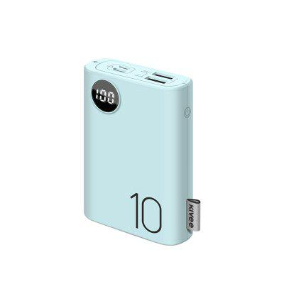 Kivee PF23P 10000mAh Power Bank With Double USB Port External Battery Pack Travel Size Portable Charger For Smartphone