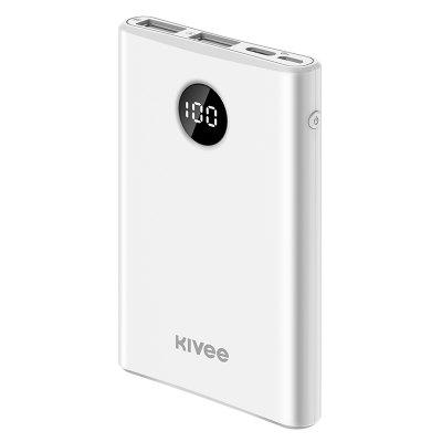 cylinder shaped external 6000mah emergency power battery charger for iphone cell phone silver Kivee PT05P Mini Power Bank 5000mAh Dual USB Powerbank 5000mAh Portable External Battery Charger For iPhone For Xiaomi