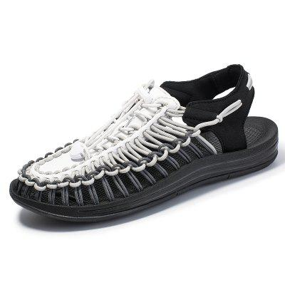 Mens Gladiator Sandals Summer High Quality Handmade Weave Shoes Slip-On Outdoor Casual Beach Men Sneakers Flat